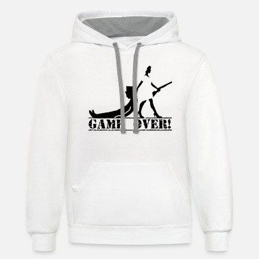 Game Over game over bride and groom - Unisex Two-Tone Hoodie