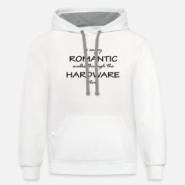 Plumber S Workshop Funny Repairman Fixer Upper I Enjoy Romantic Walks - Unisex Two-Tone Hoodie