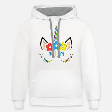 Unicorn Autism Awareness T shirt - Unisex Two-Tone Hoodie