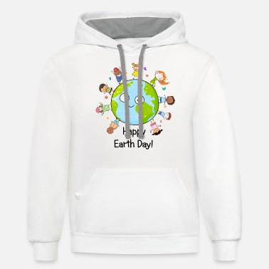 Happy Childrens Day Happy Earth Day Children Around The Planet 2019 - Unisex Two-Tone Hoodie
