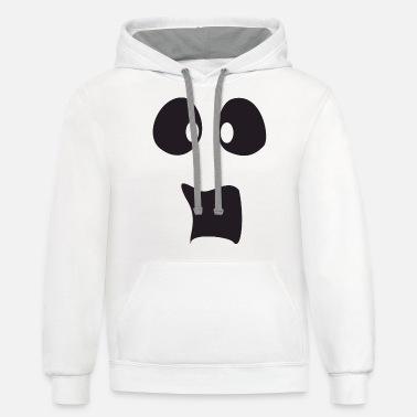 Spooked Ghost Face Halloween Women/'s Hoodie