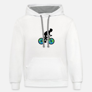 Protection Bicycle Environmental Protection - Unisex Two-Tone Hoodie
