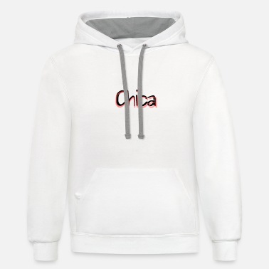 Chica Chica Cute Funny Gift Idea - Unisex Two-Tone Hoodie