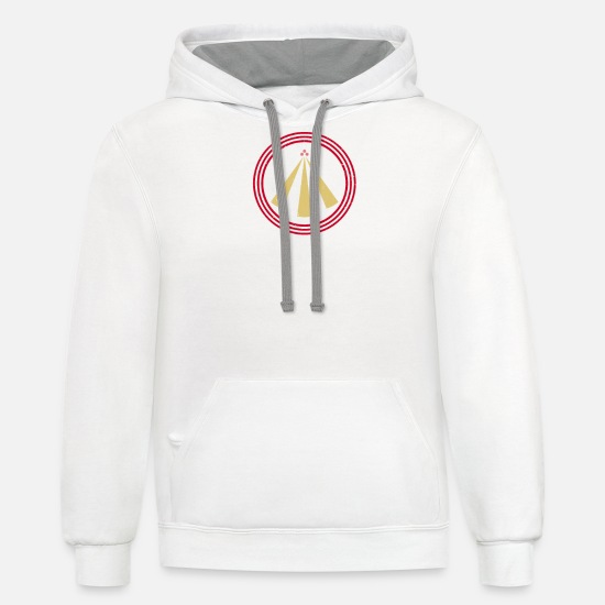 Chant Hoodies & Sweatshirts - The Awen of the Three Rays of Light | Celtic - Unisex Two-Tone Hoodie white/gray
