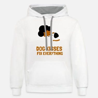 Save Dog Kisses Fix Every Thing - Unisex Two-Tone Hoodie