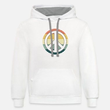 Hippie Hippie Peace | Costume Hippies Costume Fancy Dress - Unisex Two-Tone Hoodie