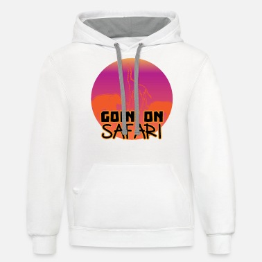 Lion Safari in Africa and the Savannah - Unisex Two-Tone Hoodie