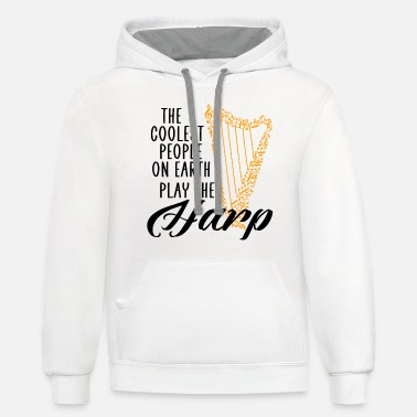 Coaching coolest people on earth play the harp - Unisex Two-Tone Hoodie