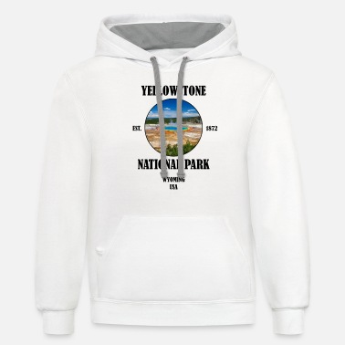 Yellowstone National park Wyoming USA - Unisex Two-Tone Hoodie