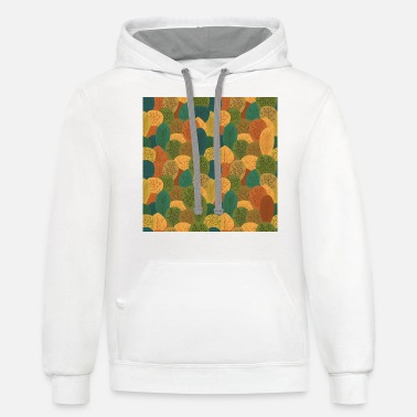 Mask Trees Autumn Trees - Unisex Two-Tone Hoodie