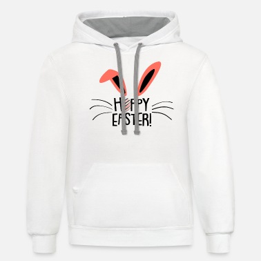 Hoppy Easter Bunny - Unisex Two-Tone Hoodie
