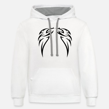 Decoration tattoo wings - Unisex Two-Tone Hoodie
