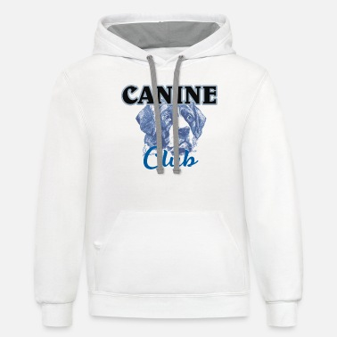Canine canine - Unisex Two-Tone Hoodie