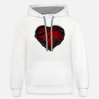 Sad dark heart - Unisex Two-Tone Hoodie
