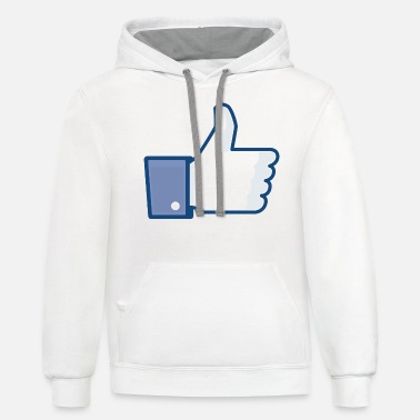 Clic Thumb up - Unisex Two-Tone Hoodie