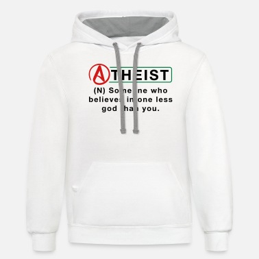 Atheist Definition - Unisex Two-Tone Hoodie
