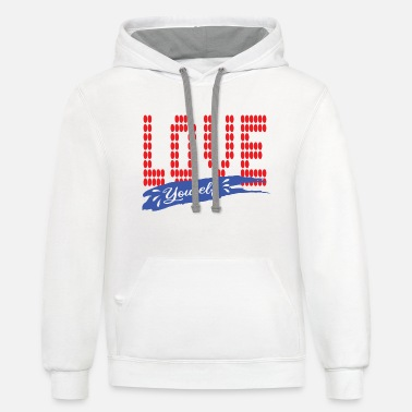 Love youself T-shirt - Unisex Two-Tone Hoodie