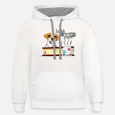 Dogs books and coffee - Unisex Two-Tone Hoodie