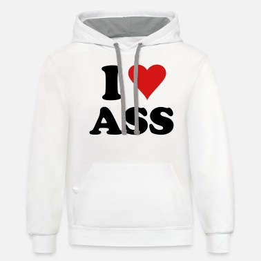 Ass I Love Ass - Unisex Two-Tone Hoodie