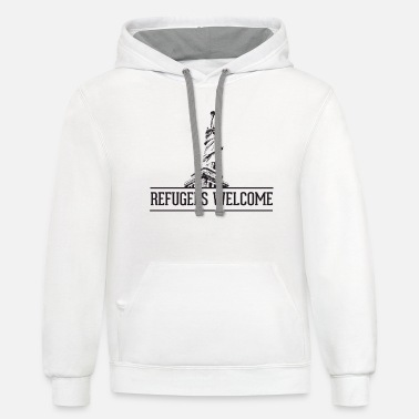 Refugees Welcome refugees welcome - Unisex Two-Tone Hoodie