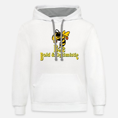 Bee Bee Bold & Optimistic - Unisex Two-Tone Hoodie