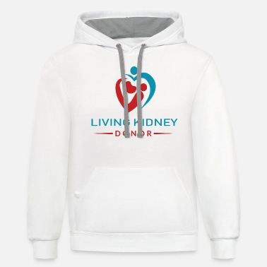 Donorplus Living Kidney Donor (DonorPlus) - Unisex Two-Tone Hoodie