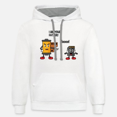 Analog Film Roll & SD Card - Funny Photographer - Unisex Two-Tone Hoodie