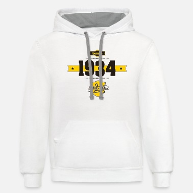 1934 Born in 1934 - Unisex Two-Tone Hoodie
