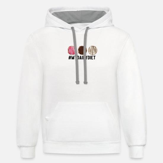 Candy Hoodies & Sweatshirts - my daily diet - Unisex Two-Tone Hoodie white/gray