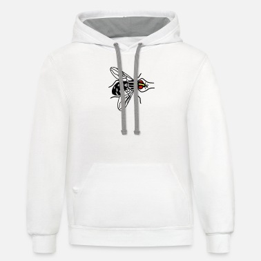 Fly Fly, insect - Unisex Two-Tone Hoodie
