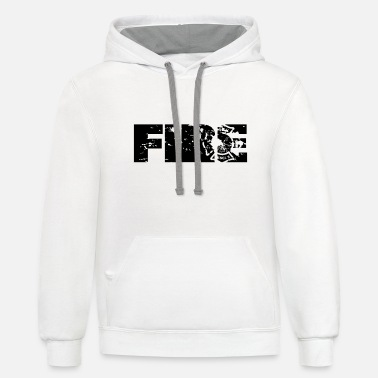 Firefighter Faded Design - Unisex Two-Tone Hoodie