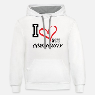 Plus I_LOVE_MY_COMMUNITY - PLUS SIZE - Unisex Two-Tone Hoodie
