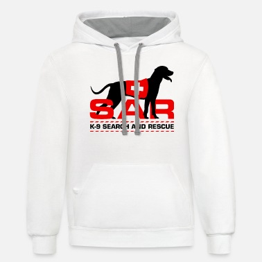 Search K-9 Search and Rescue - Unisex Two-Tone Hoodie