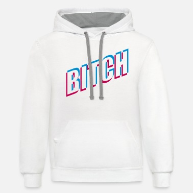 Pay Logo design bad girl bitch 3D effect whore bitch w - Unisex Two-Tone Hoodie