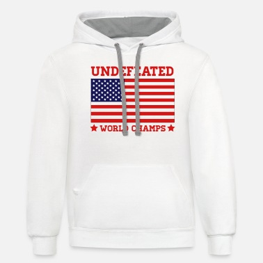Undefeated World Champs - Unisex Two-Tone Hoodie