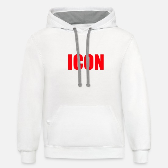 Icon Hoodies & Sweatshirts - ICON - Unisex Two-Tone Hoodie white/gray