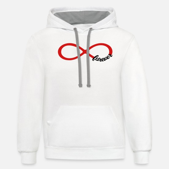 Friends Hoodies & Sweatshirts - Infinity forever love - couple best friends symbol - Unisex Two-Tone Hoodie white/gray