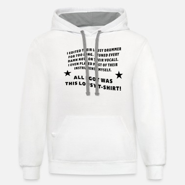 Edited - Tuned - Played - Unisex Two-Tone Hoodie