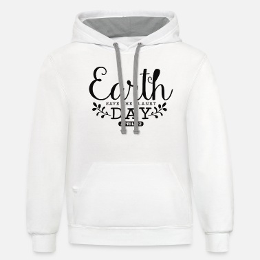 Earth Day Hand Written - Unisex Two-Tone Hoodie