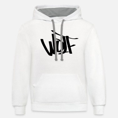 The Wolf wolf - Unisex Two-Tone Hoodie