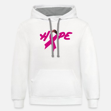 Breast Cancer - Unisex Two-Tone Hoodie