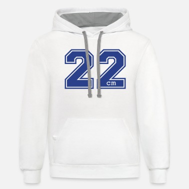 Eight 22 centimeter - Unisex Two-Tone Hoodie