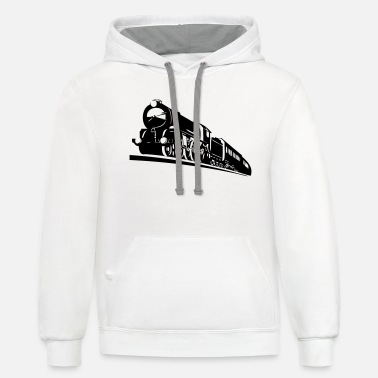 Bnsf train engine - Unisex Two-Tone Hoodie