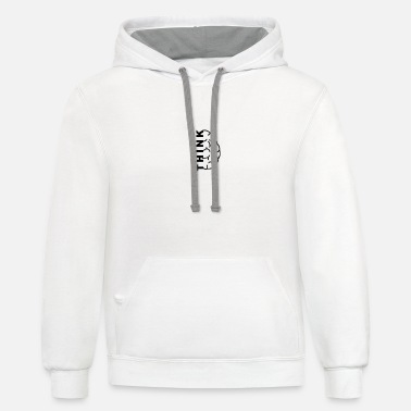 think designs - Unisex Two-Tone Hoodie