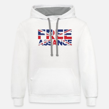 Assange Case Free Assange Union Jack - Unisex Two-Tone Hoodie