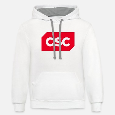 csc logo svg - Unisex Two-Tone Hoodie