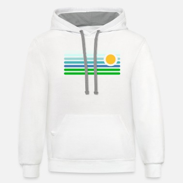 Landscape Abstract Landscape - Unisex Two-Tone Hoodie