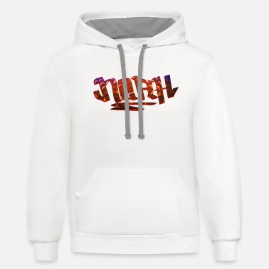 Birth Name Noah Name Design - Unisex Two-Tone Hoodie
