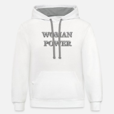 Woman Power WOMAN-POWER - Unisex Two-Tone Hoodie