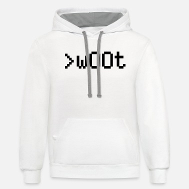 Tablet w00t - Unisex Two-Tone Hoodie